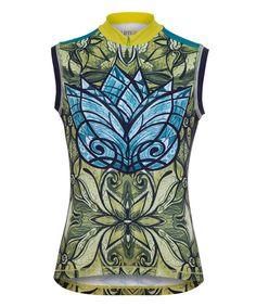 YMX Fern Radiant Wings Sleeveless Cycle Jersey Top