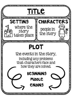 Story Map Graphic Organizer at Classroom Doodles, from