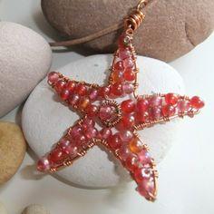 Red Rainbow Copper Starfish Pendant £24.00
