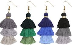 Tassels tassels with 3-tiers and ombré! HoneyRoseNK.com to Shop!