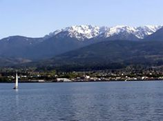 Port Angeles Washington- looking at the Strait of San Juan and the Olympic Mountain beyond. Port Angeles Washington, Olympic Mountains, San Juan Islands, Olympic Peninsula, Washington State, Pacific Northwest, San Francisco Skyline, Countryside, Olympics