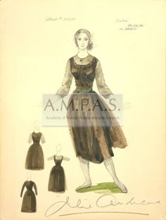 THE SOUND OF MUSIC | costume design drawing(s) | Jeakins, Dorothy | Andrews, Julie