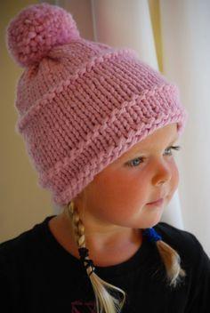 Rosa gorro o sombrero para las señoras niñas niño o por AquaLumen Gorros  Tejidos Para Bebe c4ef04c5a87