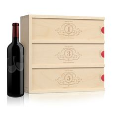 Wedding Wine Box - Charming Trio // Wedding Gift for Couple // Anniversary Wine Box // Engagement Gift // Engraved Wine Box