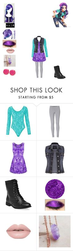 """""""starlight glimmer"""" by bluesakurarose on Polyvore featuring My Little Pony, maurices, Wet Seal, Lime Crime and FOSSIL"""