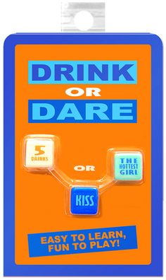 Drink or Dare - Dice Game - Novelties - Party & Fun - Games - Party Games Adult Party Games, Adult Games, Dare Games, Fun Games, Hot Girls Kissing, Shopping Games, Toy Store, Best Part Of Me