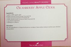 Young Living Cranberry Apple Cider