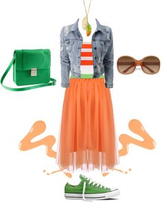 Sneakers w/Skirts.  Colorful, relaxed and playful :D