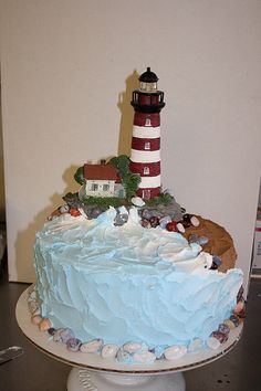 Lighthouse Birthday Cake by klcatering