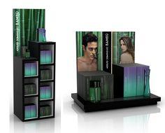 Aktiva Premium Design. Adolfo Dominguez. POS and promotional areas for Adolfo Domínguez's fragrances BAMBÚ and AGUA FRESCA.