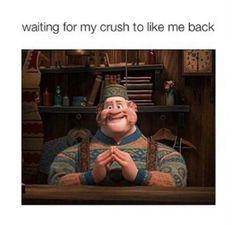 Waiting on my crush