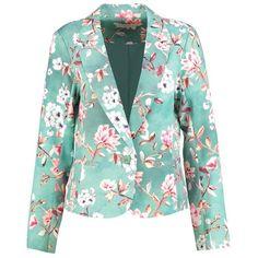 Cream SASHA Blazer ❤ liked on Polyvore featuring outerwear, jackets, blazers, cream jacket, green blazers, green jacket, creme blazer and cream blazers