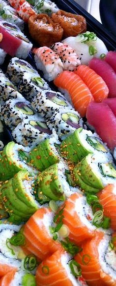 Colorful platter - Sushi are very popular in Russia today