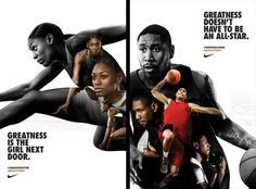 ManaMedia UK LTD : Client: Nike UK, Advertising Agency: W+K London, Campaign: Find your Greatness #MAKEITCOUNT,  Talent: Perri Shakes-Drayton, Drew Sullivan, Photographer: Warwick Saint, Location: London