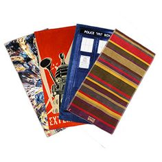 ThinkGeek :: Doctor Who Beach Towels Check it out! 4's Scarf!!!