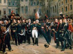 Napoleon's farewell to the Imperial Guard. April 20, 1814. Painter Simon de Montfort / Прощание Наполеона с императорской гвардией. 20 апреля 1814 года. Художник Симон де Монфор.