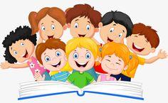 Ilustración de niños, Ilustración de lectura de libros, un grupo de niños. Kids Reading Books, Toddler Worksheets, School Clipart, Crochet Hair Styles, Educational Technology, Classroom Decor, Art For Kids, Books To Read, Preschool