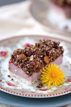 Raw Neapolitan Cheesecake with Chocolate and Coconut