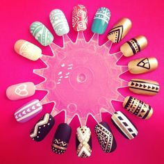 Aztec Nail Wheel. Learning about the Aztecs in school! I guess I can technically say I was studying!