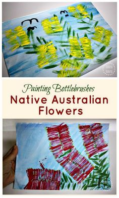 Bottlebrush Flower Art Painting Aussie bottlebrushes fun Australian native flower art for kids The post Bottlebrush Flower Art appeared first on Diy Flowers. Australian Art For Kids, Australian Animals, Australia Crafts, Australia Day, Australia School, Cairns Australia, Western Australia, Australian Native Flowers, Thinking Day
