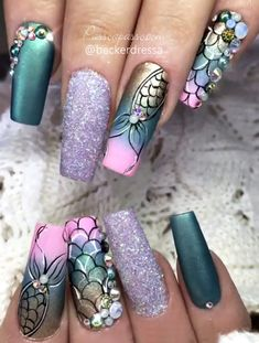 As mais lindas unhas de sereia