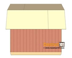 shed plans - small barn - roof deck. 12x24 Shed, 8x8 Shed, Installing French Doors, Roofing Nails, Shed Floor, Shed Construction, Foundation Sets, Modern Shed, Free Shed Plans
