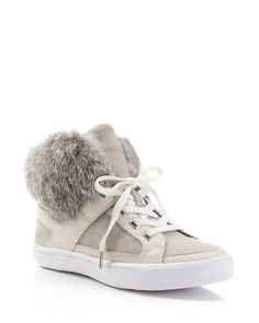 27113b97da995 Rebecca Minkoff Shiloh Fur High Top Sneakers Shoes - Sneakers -  Bloomingdale s