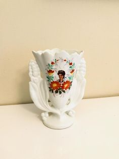 Signed TP Old Paris Flower Vase with Wiman Portrait circa | Etsy