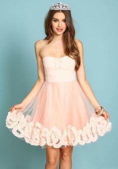 Bow and Ruffle Organza Dress Cute Prom Dresses cc9c08aba