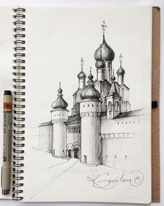 I am use pen Staedtler water and watercolor Opera by ShinHanArt ? Ink Pen Drawings, Cool Art Drawings, Art Drawings Sketches, Architecture Drawing Sketchbooks, Architecture Art, Art Alevel, Pen Illustration, Perspective Art, Urban Sketching