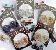 Earrings galore at brand new Sly Pony stockist @gatheredbendigo - shine on! by slyponystudio