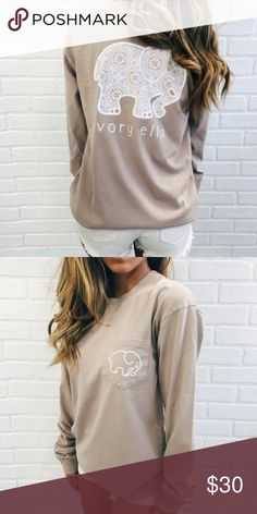 Taupe Ivory Ella shirt Long sleeve, worn maybe twice, perfect condition, trades and offers welcome  Ivory Ella Tops