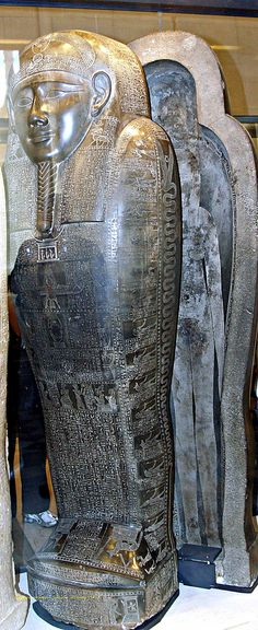 Ancient Egyptian Granite solid block consisted of  two pieces (lower and upper) Sarcophagus.