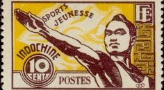 French Indochina post stamp, pin by Paolo Marzioli
