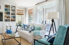 coastal family room | Kate Jackson Design