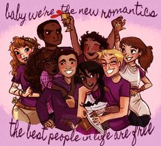 Cute, but I wish Solangelo and Percabeth were here. Also who are those two people in back?!