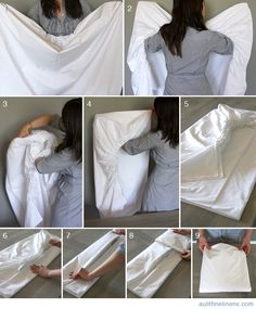 Fitted Sheet For Folding Bed.Here Is How To Fold The Dreaded 'Fitted Sheet' Perfectly . How To Fold A Fitted Sheet This Is Authentic. How To Fold A Fitted Sheet. Linen Closet Organization, Home Organisation, Organization Hacks, Organizing, Closet Storage, Folding Fitted Sheets, How To Fold Sheets, Folding Socks, How To Fold Towels