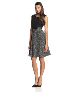 Printed Fit-and-Flare Dress by Anne Klein