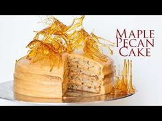 Maple Pecan Cake With Salted Caramel Frosting - Tatyanas Everyday Food Maple Cake, Maple Pecan, Salted Caramel Frosting, Caramel Pecan, Cake Recipes, Dessert Recipes, Loaf Recipes, Coffee Recipes, Baking Recipes