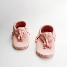 • SALE •  'Peonies' Baby Moccasins