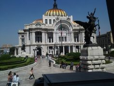 El palacio de Bellas Artes Mexico city.