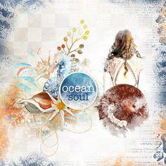 Ocean Soul Bundle by Lara's Digi World World Photo, Digital Scrapbooking, Digital Art, Ocean, Creative, Layouts, Painting, Design, Studio