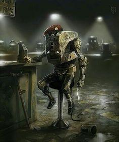 The brave veteran toaster by ~parsakoira on deviantART Cool Robots, I Robot, Cyberpunk, Diesel, Fireworks Art, Domo Arigato, Steampunk, Humanoid Robot, Robot Concept Art
