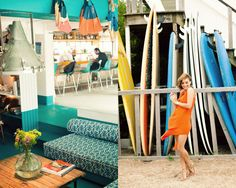 bench/daybed design @ TheSurfLodge (Montauk) :: via the glamourai