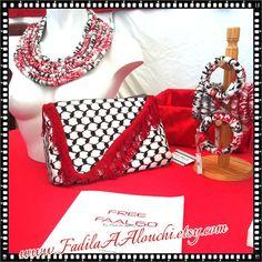 KUFFIEH clutch bag style clutch HANDBAG keffiyeh Palestinian Keffiyeh 0f3fc974073