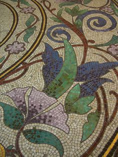 Mosaic floor in Le Printemps – boulevard Haussmann, Paris