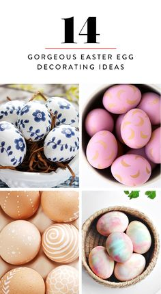 Here are the 14 loveliest Easter egg decorating DIY ideas we've come across.