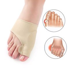 Bunion Toe Separator Corrector Orthopedic Pedicure Tool re-positions big toe into a more natural and comfortable alignment. del Pie y Zapatos Thigh Cellulite, Reduce Cellulite, Anti Cellulite, Pedicure Kit, Pedicure Tools, Bunion Relief, Stoff Design, Gel Cushion, Foot Pain