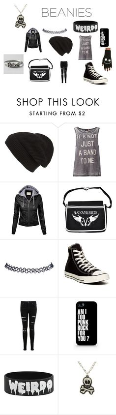 """Punk Beanie Style"" by sarahfangirl1033 ❤ liked on Polyvore featuring Phase 3, ONLY, Wet Seal, Converse, Miss Selfridge and Samsung"