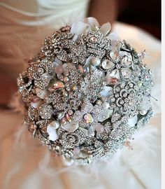 Beautiful bouquet of vintage and antique brooches.